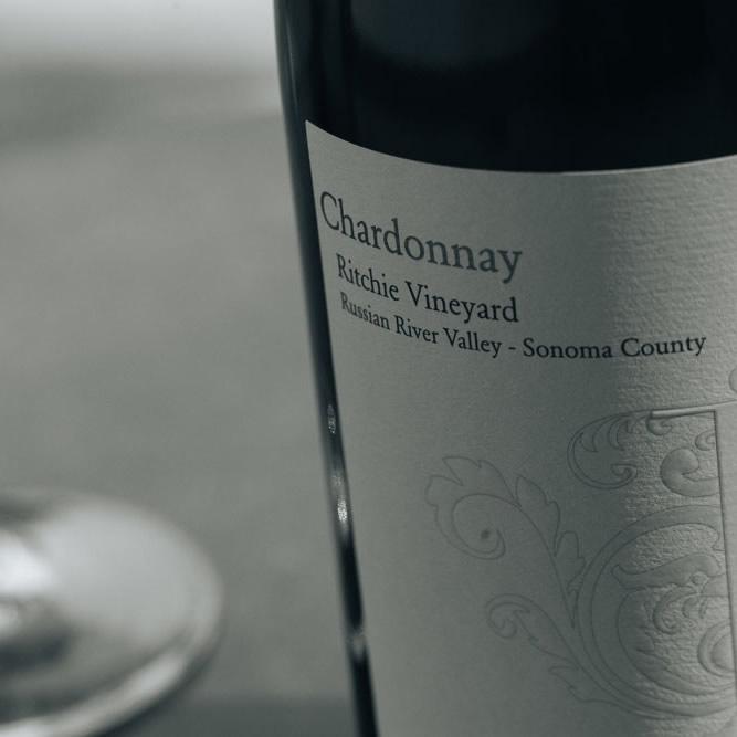 Ritchie Vineyard Chardonnay Label