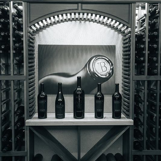 Boich Family Cellar Wine Lineup In Cellar