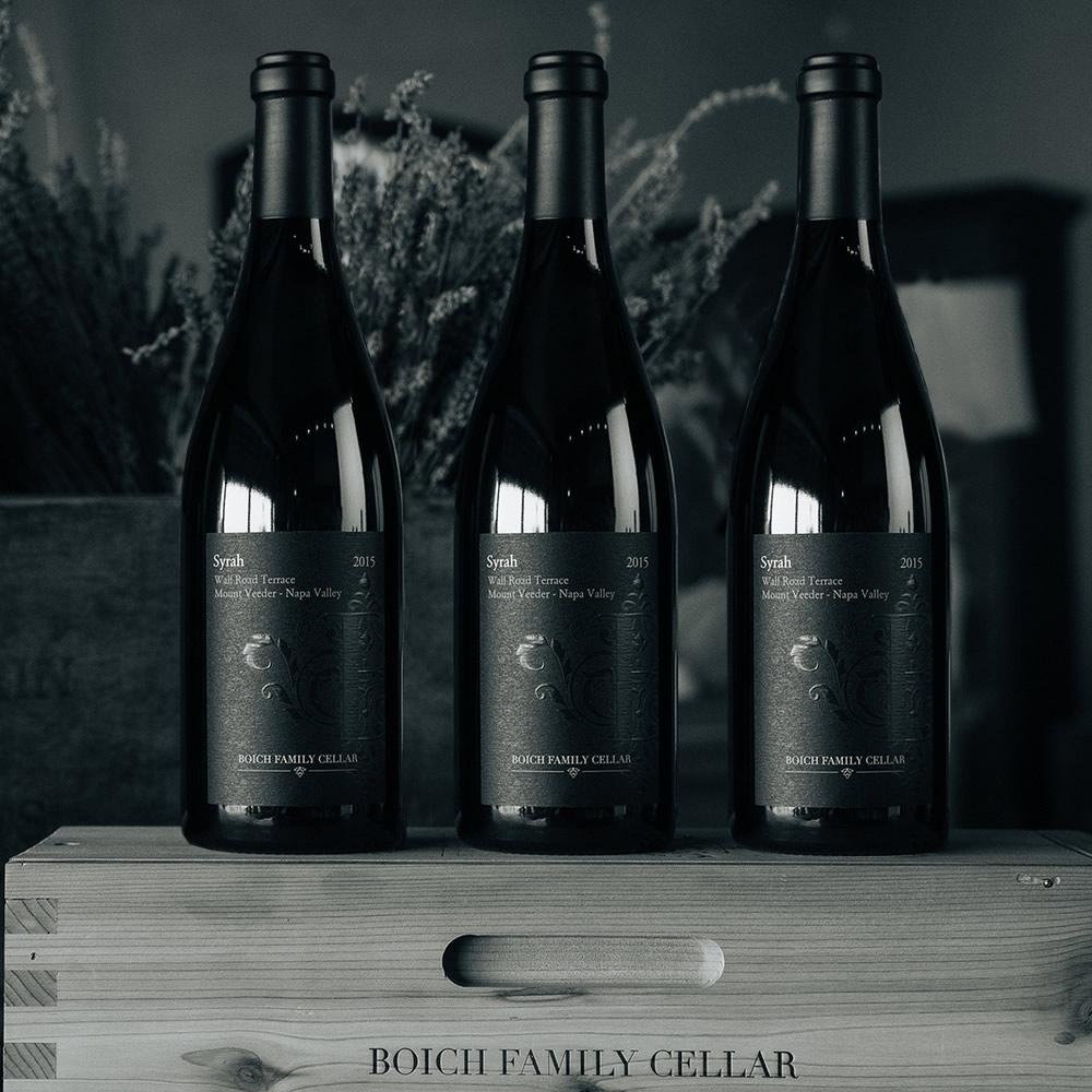 Boich Family Cellar - Syrah Bottle Lineup