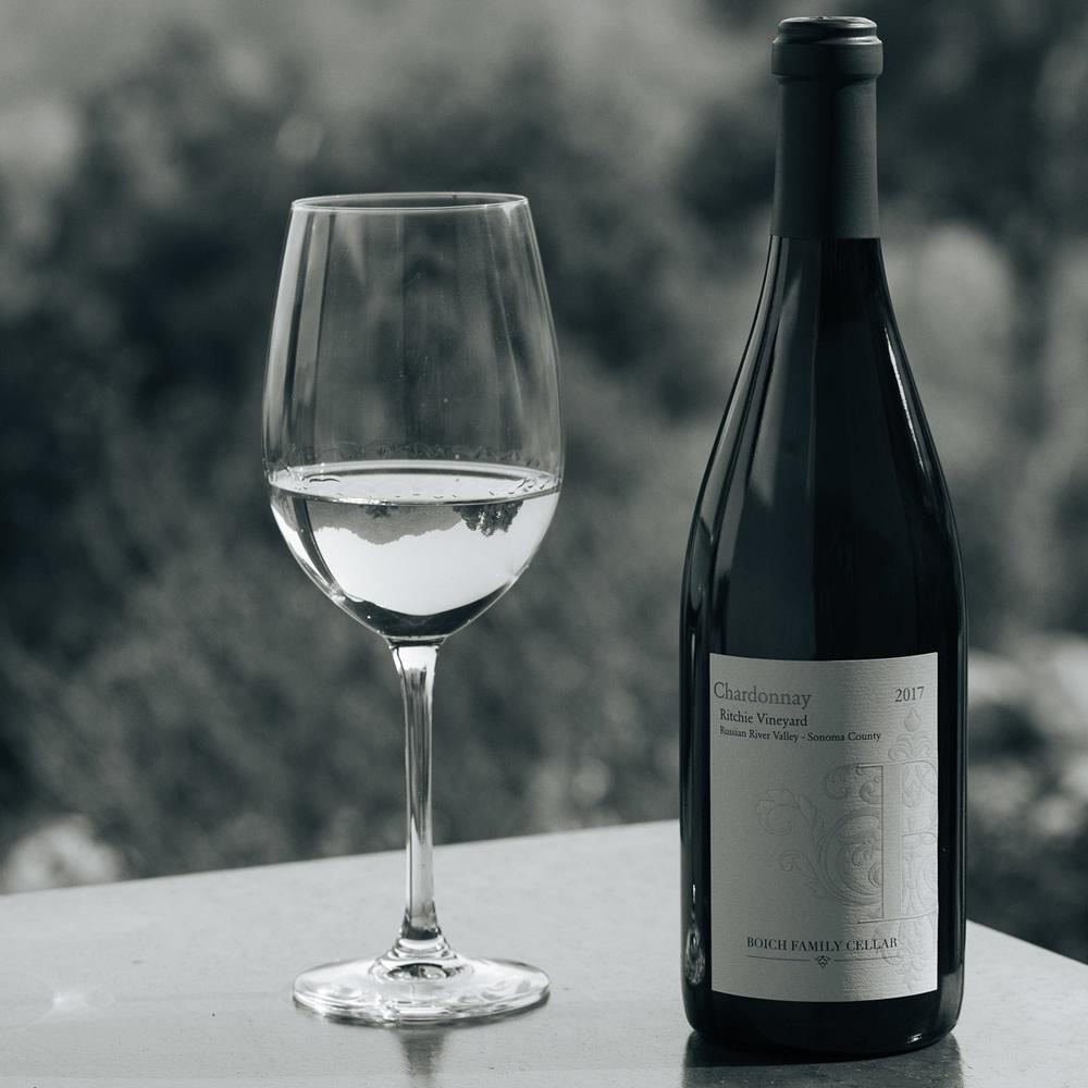 2017 Ritchie Vineyard Chardonnay Bottle And Glass