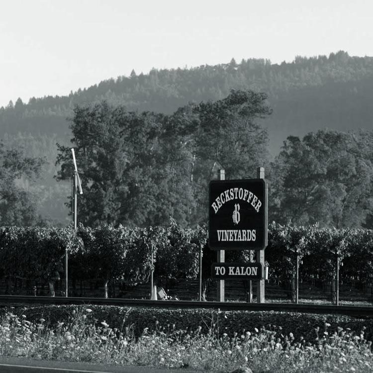 Beckstoffer To Kalon Vineyards Sign