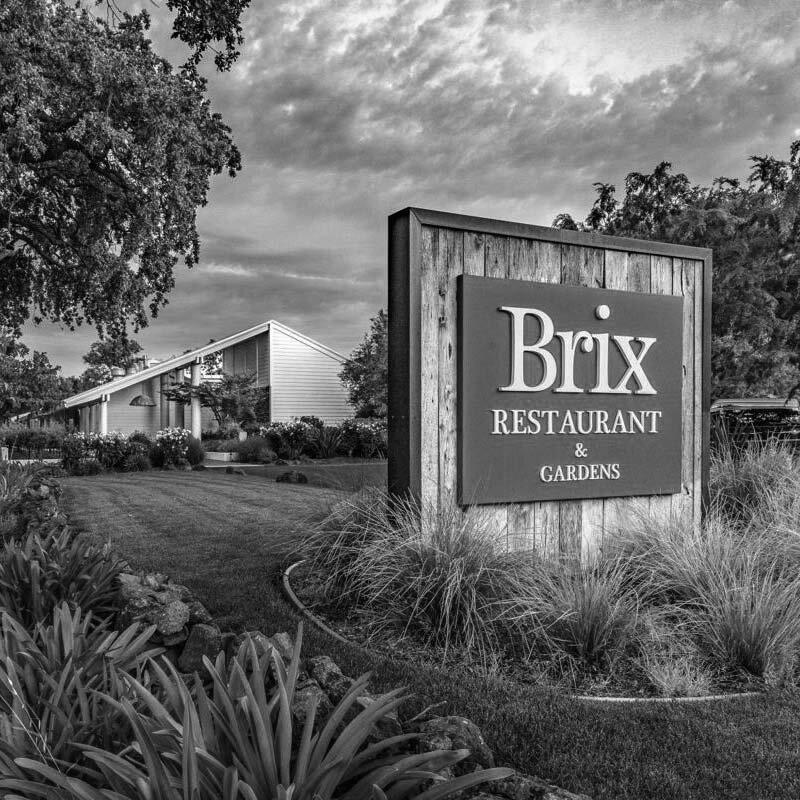 Brix Restaurant And Gardens Sign